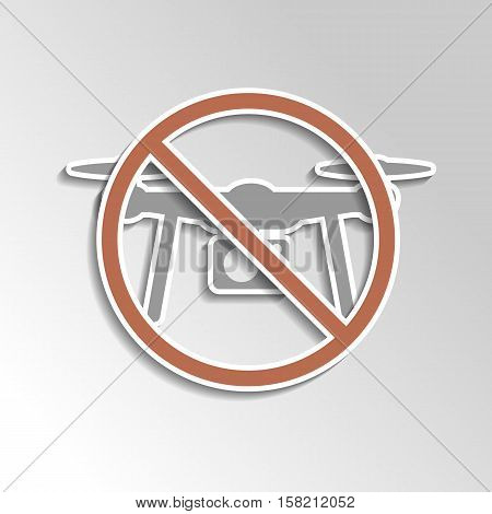No Drone Icon On Gray Gradient Backgorund