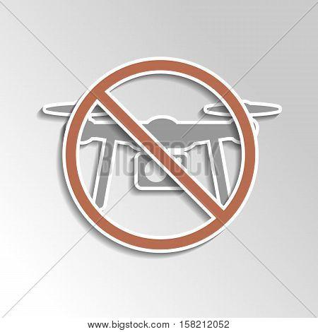 No Drone Icon On Gray Gradient Backgorund