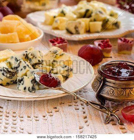 Beautifully Presented Breakfast With Cheese