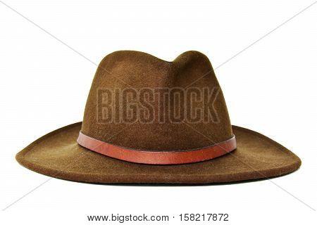 Dark Green cowboy hat with white background