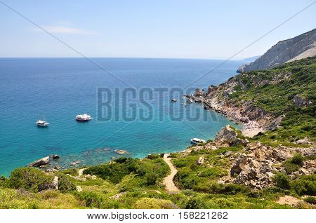 Skiathos landscape seascape panoramatic view of a sea