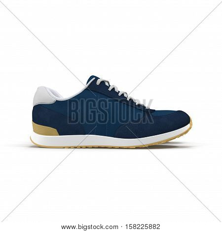sneakers isolated on white background. Side view. 3D illustration