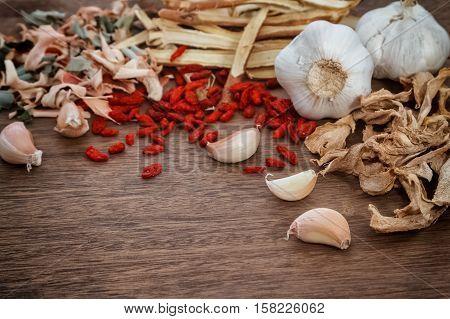 Chinese herbal medicine ingredients used in traditional herbal medicine