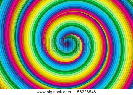 abstract colorful twist vortex background 3d illustration