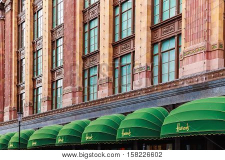 Exterior Of Harrods In London