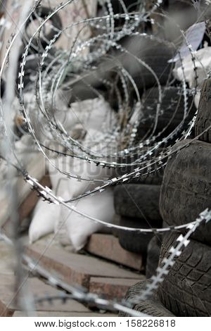 barricades in the streets of Eastern Ukraine against the junta Kiev