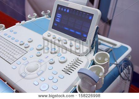 Medical diagnostic equipment closeup. Medicine and Healthcare