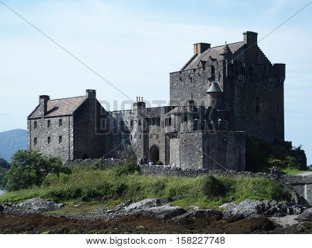 Medieval eilean donan castle in August, Scotland