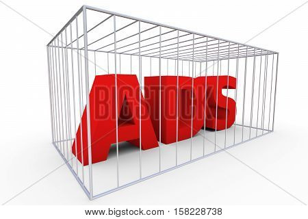 ADS in the cell means a ban 3d illustration