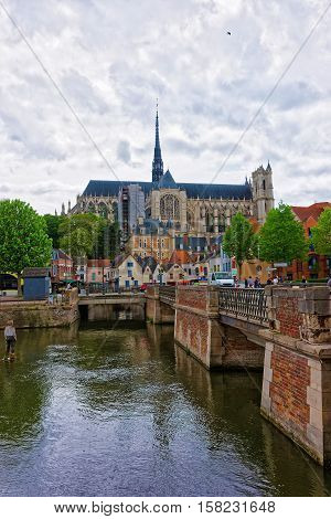 Amiens Cathedral And Don Square In Picardy
