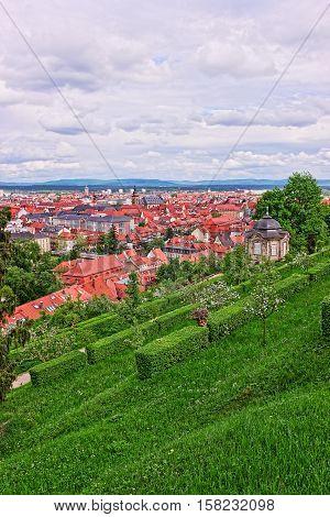 Bamberg City Center In Upper Franconia In Germany