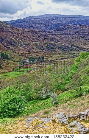 Beautiful Chain Of Mountains Of Snowdonia National Park