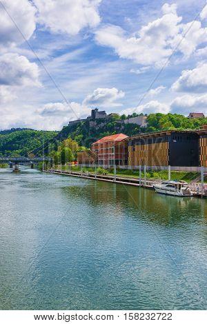 Besancon Citadel And Doubs River Bourgogne Franche Comte France