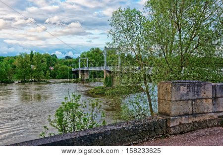 Bridge Over Loire Rive In Tours In Loire Valley