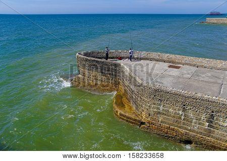 Brighton Beach In East Sussex Of Uk