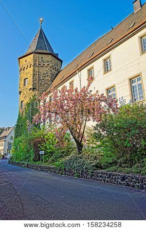 Castle In Linz Am Rhein In Germany