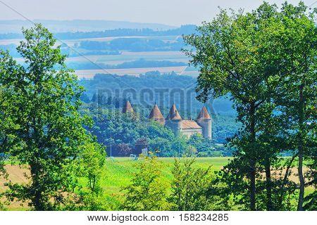Castle In Yverdon In Jura Nord Vaudois Vaud Switzerland