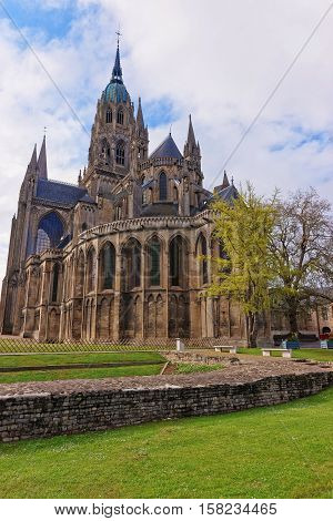 Cathedral Of Our Lady Of Bayeux At Calvados Normandy