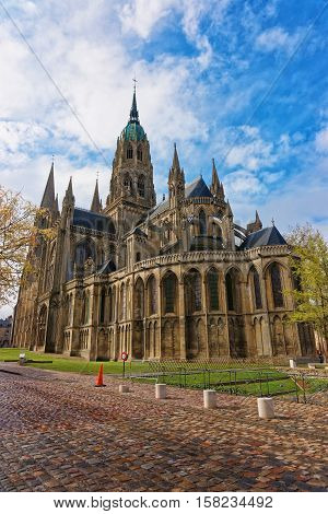 Cathedral Of Our Lady Of Bayeux In Calvados Normandy