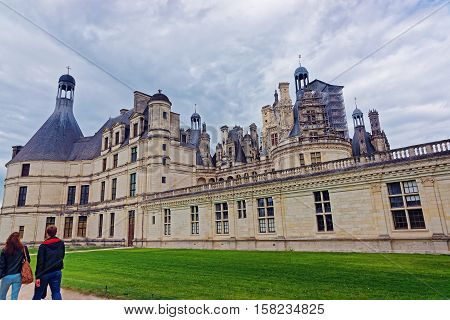 Chateau De Charbord Palace In Loire Valley In France