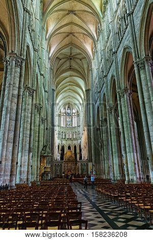 Choir And Altar In Amiens Cathedral Of Notre Dame Picardy
