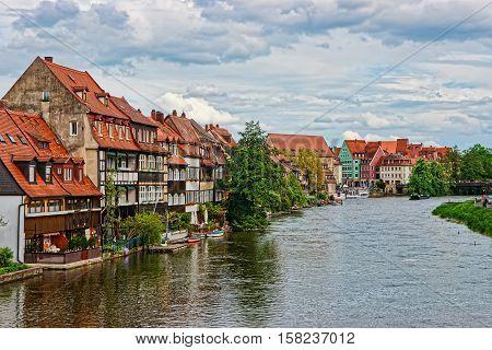 Colorful Fishermen Houses And Regnitz River Little Venice Bamberg