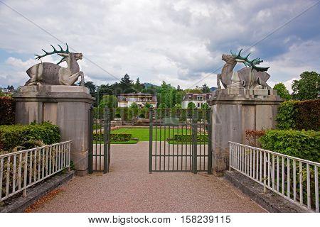 Entrance Gate At Lichtentaler Allee Park In Baden Baden