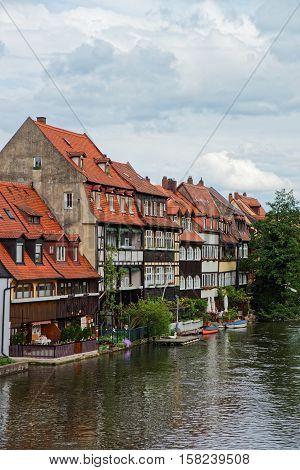 Fishermen Houses Regnitz River In Little Venice Bamberg