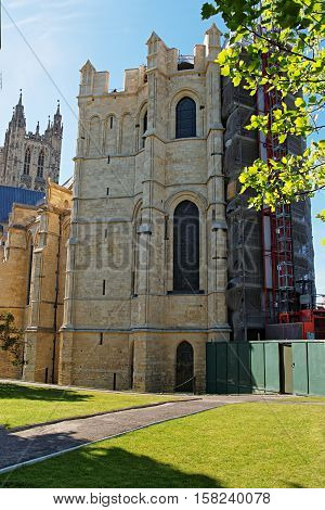 Fragment Of Canterbury Cathedral Canterbury Kent Uk