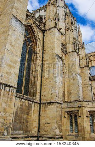 Fragment Of York Minster In York In England