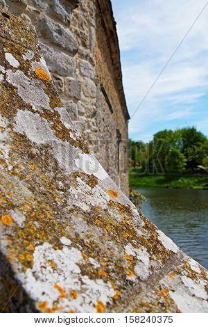 Fragment Of Wall In Leeds Castle Kent Uk