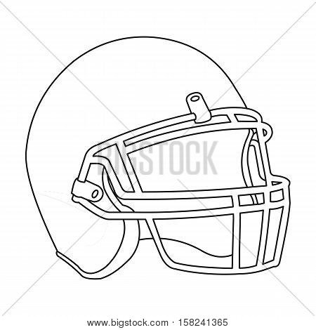 Helmet icon outline. Single sport icon from the big fitness, healthy, workout outline.