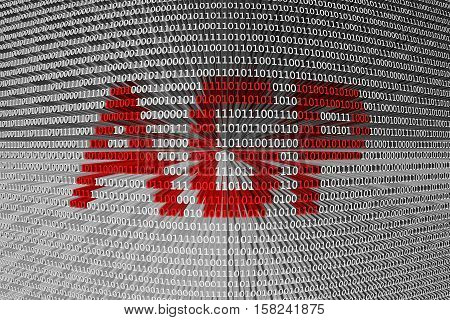 AGP in the form of binary code, 3D illustration
