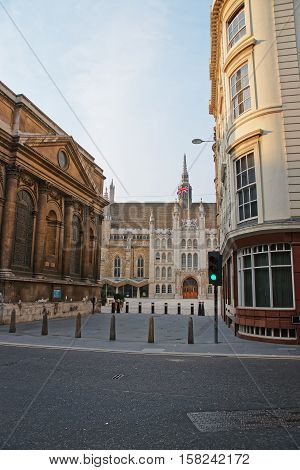 Guildhall In The City Of London Uk