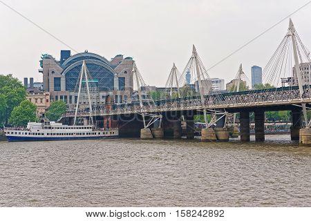Hungerford Bridge In London In The Uk