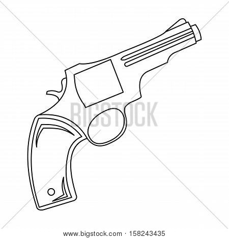 Revolver icon outline. Singe western icon from the wild west outline.