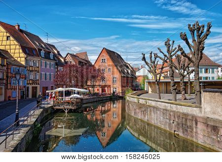 Little Venice Quarter In Colmar Of Alsace In France