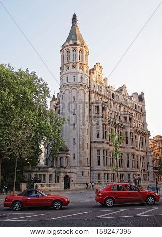 National Liberal Club On Thames Embankment In Central London
