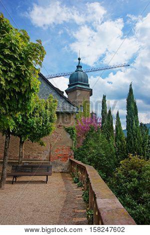 New Castle At Its Terrace In Baden Baden
