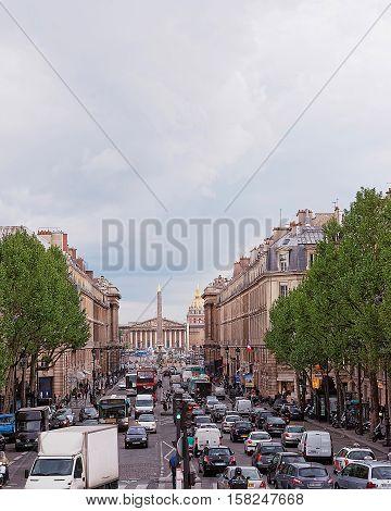 Obelisk Place De La Concorde And Les Invalides In Paris