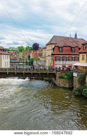 Old Houses At Regnitz River In Little Venice Bamberg