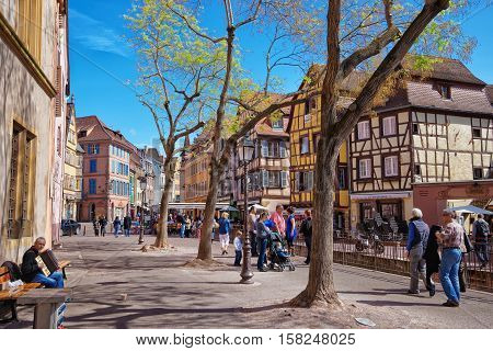Old City Center At Colmar Alsace France