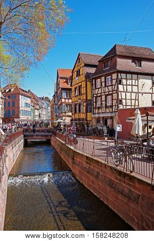 Old City Center Of Colmar Alsace France