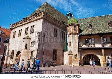 Old Custom House In Colmar In Alsace France