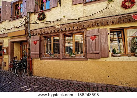 Old Town In Colmar In Alsace In France