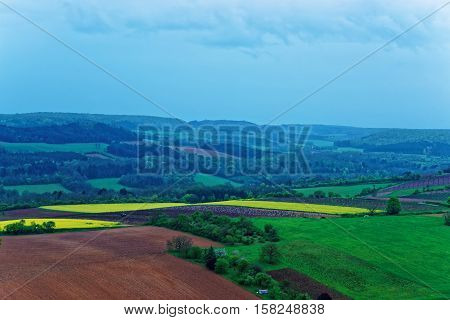 Panorama Of Vezelay At Bourgogne Franche Comte Region In France