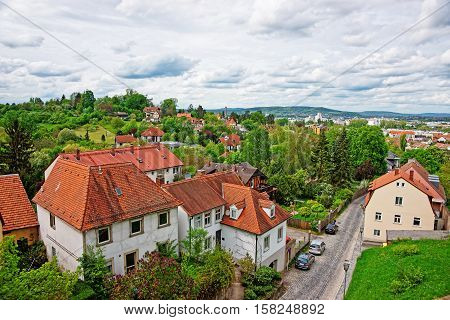 Panoramic View Of Bamberg City Center In Upper Franconia Germany