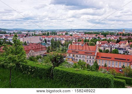 Panoramic View On Bamberg City Center Upper Franconia Germany