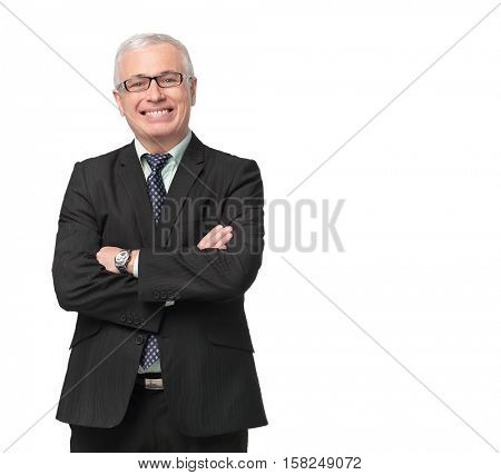 Full body shot of a well dressed businessman
