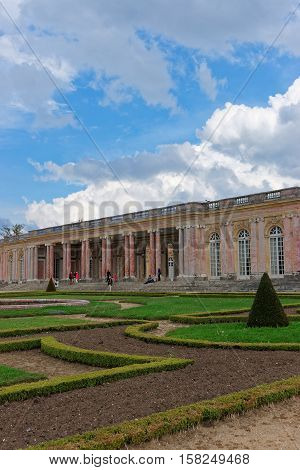 People And Palace Of Versailles Of Paris France